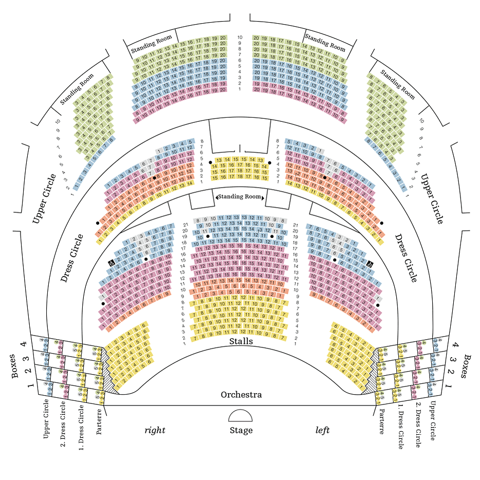 Dynamisch Saalplan Wiener Staatsoper Galerie: Vienna Opera House Seating Chart